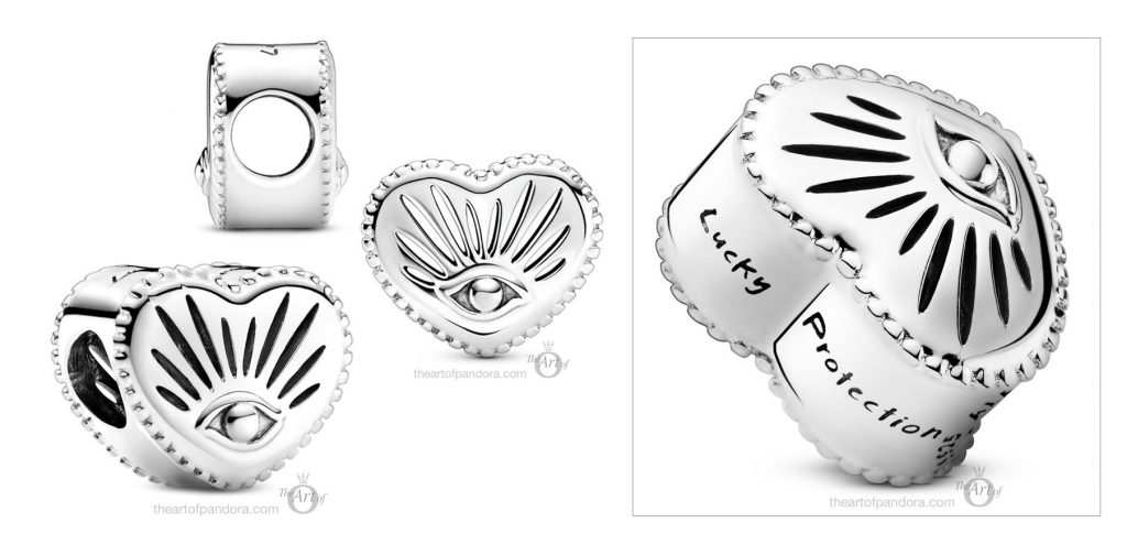 Pandora All-seeing Eye & Heart Charm (799179C00) pre winter Star Wars mysticism 2020 collection