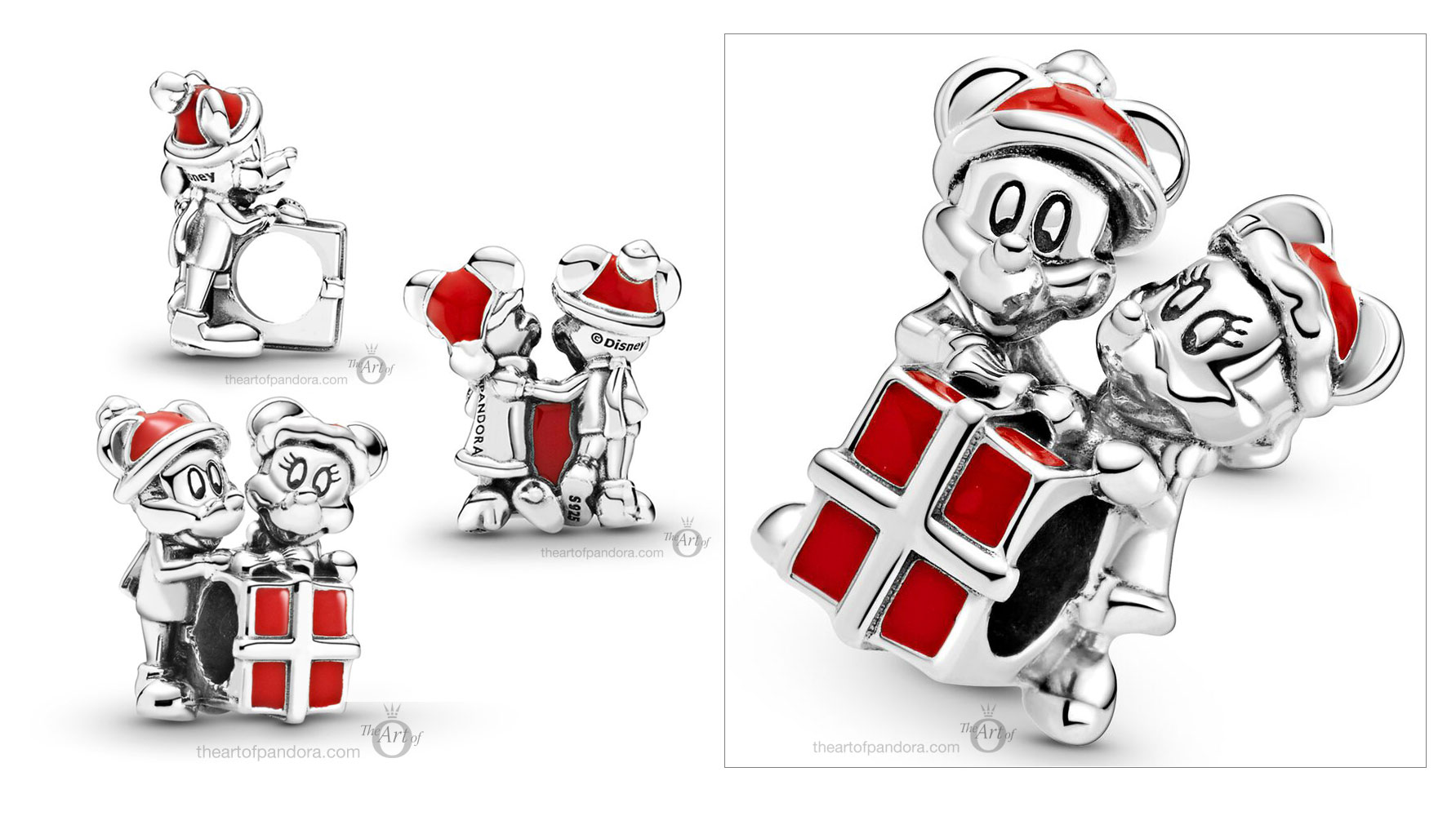 799194C01-Pandora-Disney-Christmas-Mickey-and-Minnie-charm - The ...