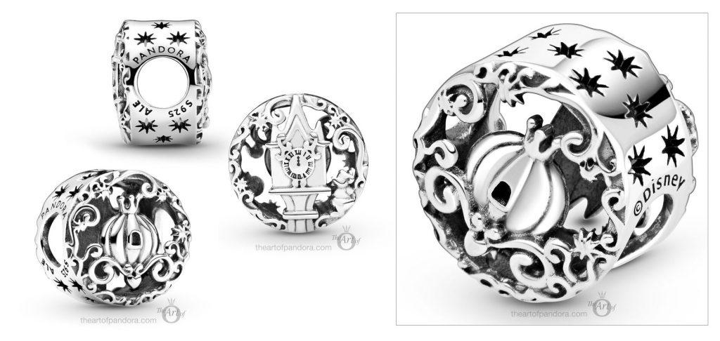 Disney x Pandora Cinderella Clock & Pumpkin Coach Charm (798849C01)