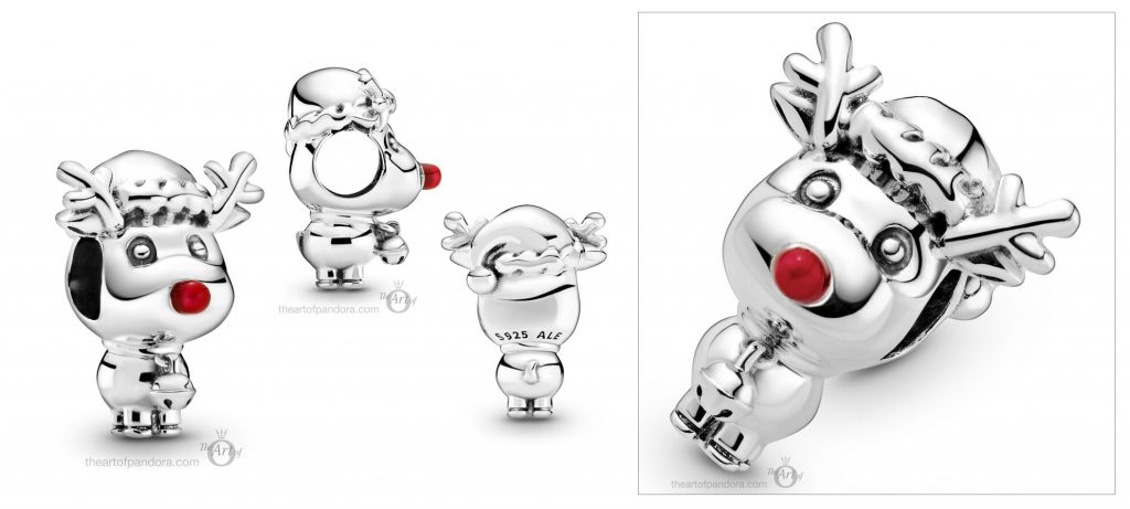 Pandora Rudolph The Red Nosed Reindeer Charm (799209C01) winter Christmas 2020