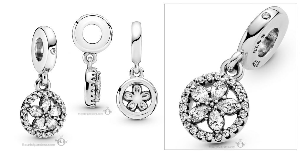 Pandora Sparkling Snowflake Circle Dangle Charm (799222C01) winter 2020