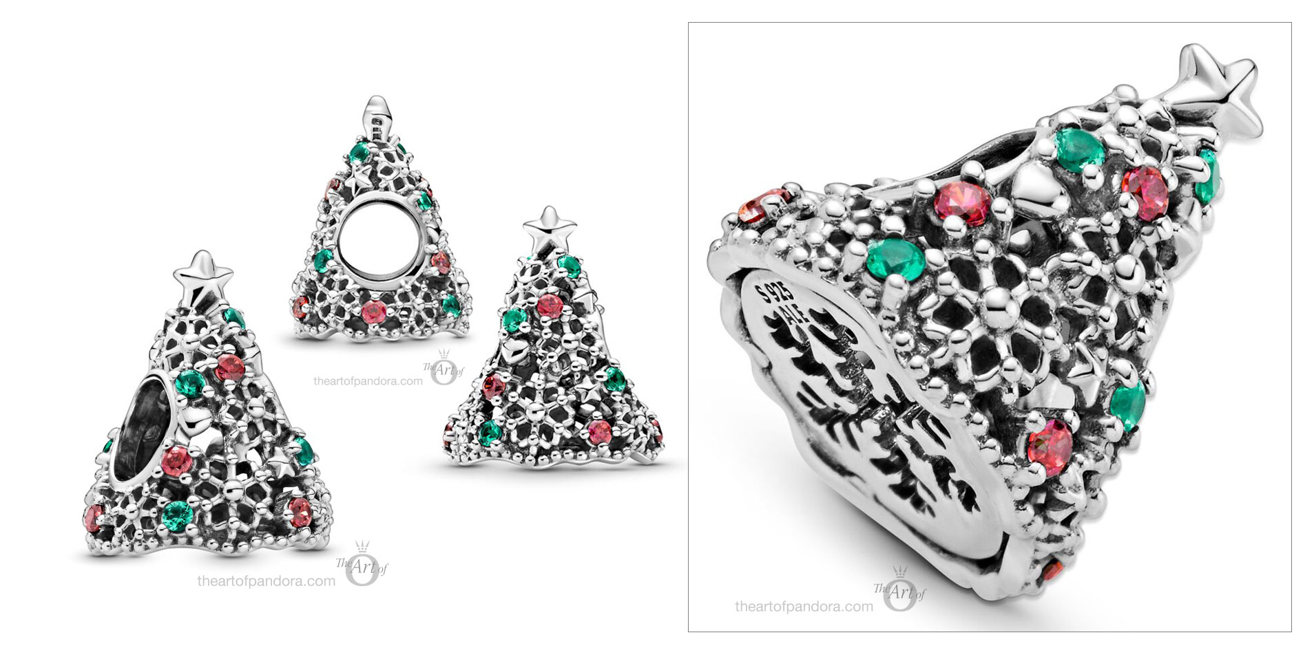 799226c01 Pandora Glitter Christmas Tree Charm The Art Of Pandora More Than Just A Pandora Blog