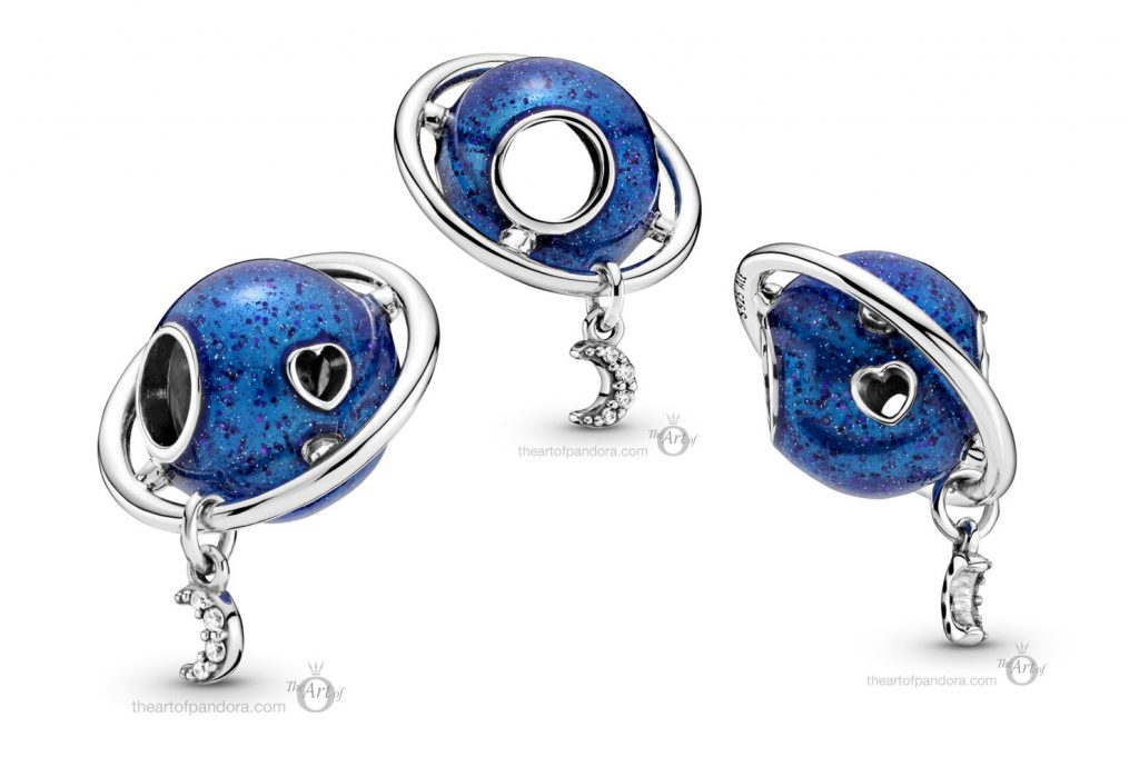 Pandora Planet Love & Moon Charm (799227C01) winter 2020