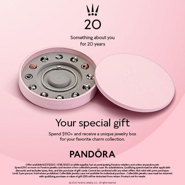 pandora 20 gwp free jewellery box