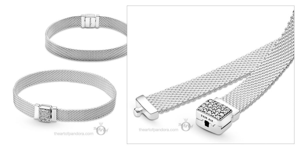 Pandora Reflexions  Pavé Clasp Mesh Bracelet (599166C01) winter 2020
