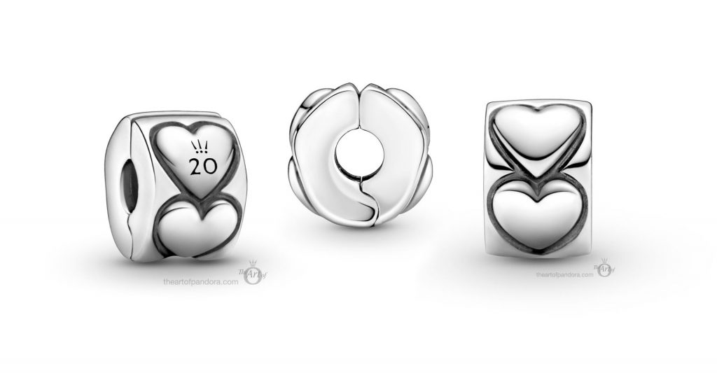 Limited Edition Pandora 20th Anniversary Hearts Clip Charm (799006C00)