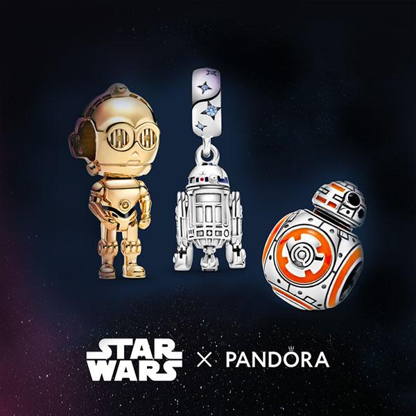 Star Wars x Pandora c3po r2d2 BB8