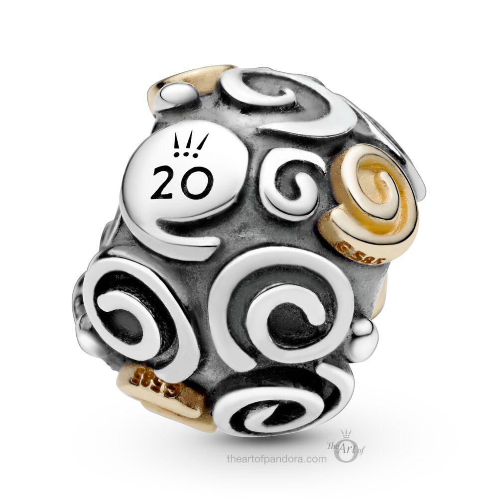 Pandora 20th Anniversary Swirl Charm - The Art of Pandora | The #1 ...