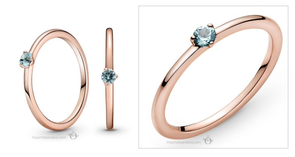 Pandora Rose Light Blue Solitaire Ring (189259C02) valentines day 2021 Chinese new year cny