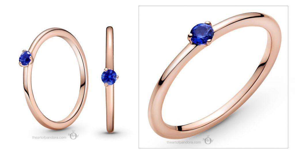 Pandora Rose Stellar Blue Solitaire Ring (189259C04) valentines day 2021 Chinese new year cny