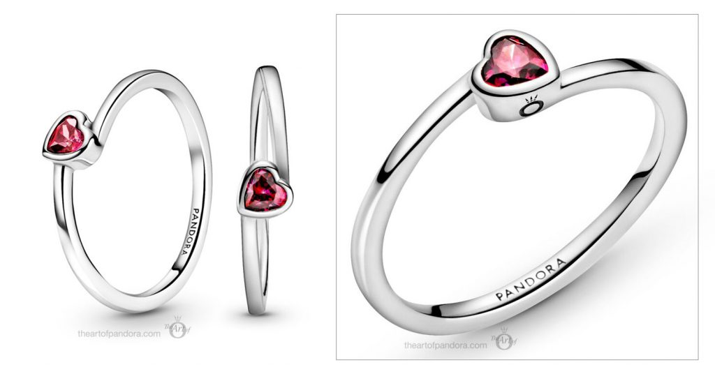 Pandora Red Tilted Heart Solitaire Ring (199267C01) valentines day 2021 Chinese new year cny