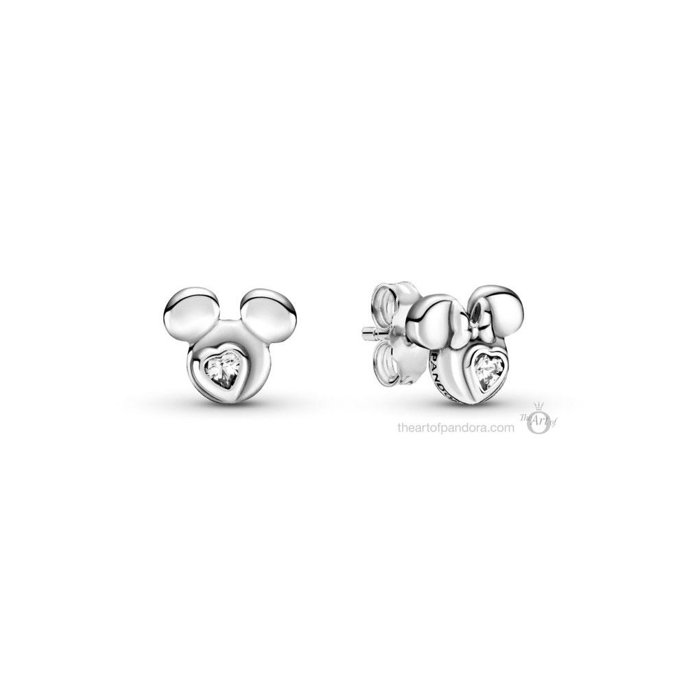 Disney x Pandora Mickey & Minnie Mouse Silhouette Stud Earrings (299258C01)