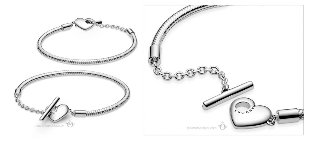 Pandora Moments Heart T-Bar Snake Chain Bracelet  (599285C00) Valentine's Day 2021 new collection Chineses new year