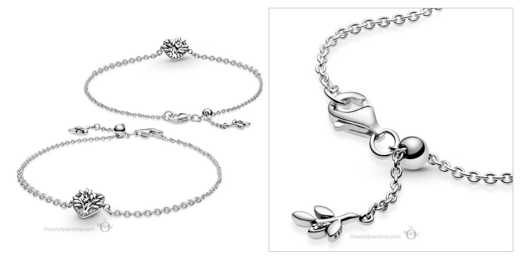 Pandora Heart Family Tree Chain Bracelet (599292C01) Valentine's Day 2021 new collection Chineses new year