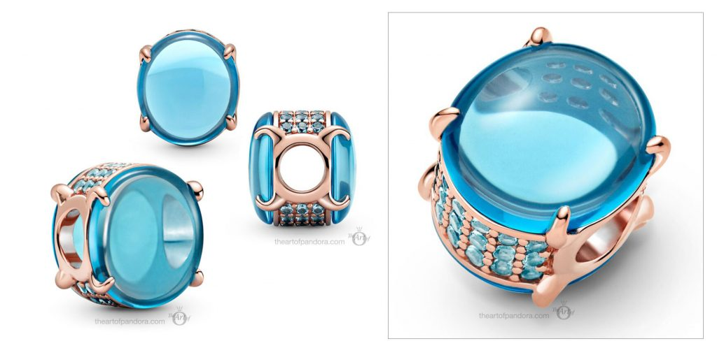789309C01 Pandora Blue Oval Cabochon Charm valentines day 2021 Chinese new year cny