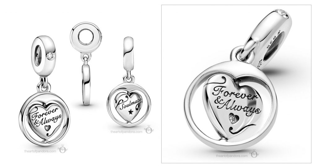 799266C01 Pandora Spinning Forever Always Soulmate Dangle Charm valentines day 2021 Chinese new year cny