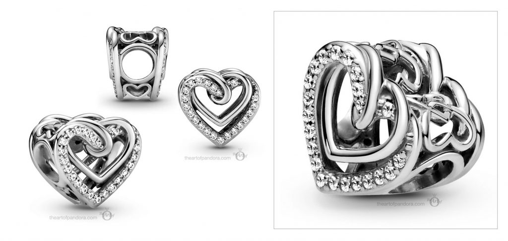799270C01 Pandora Sparkling Entwined Hearts Charm valentines day 2021 Chinese new year cny