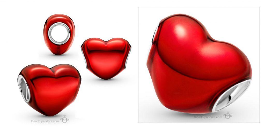 Pandora Metallic Red Heart Charm (799291C02) valentines day 2021 Chinese new year cny