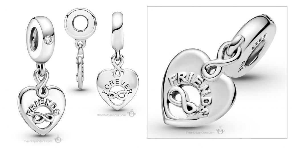 Pandora Friends Forever Heart Dangle Charm (799294C01) valentines day 2021 Chinese new year cny