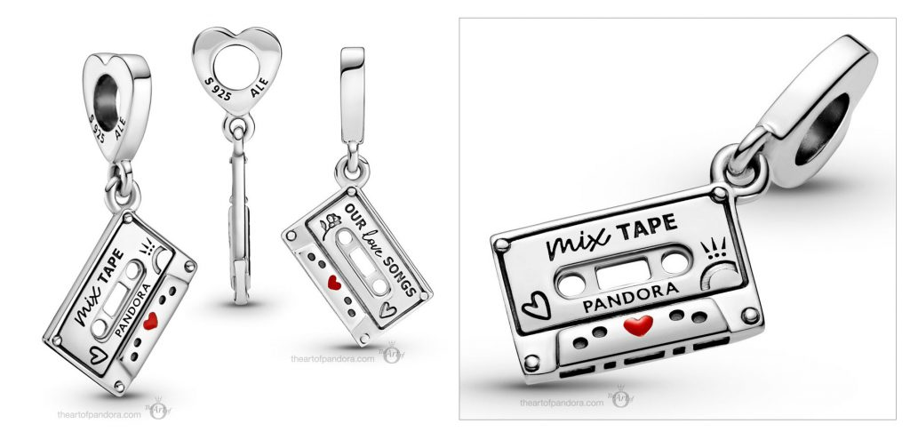 Pandora Vintage Cassette Dangle Charm (799295C01) valentines day 2021 Chinese new year cny