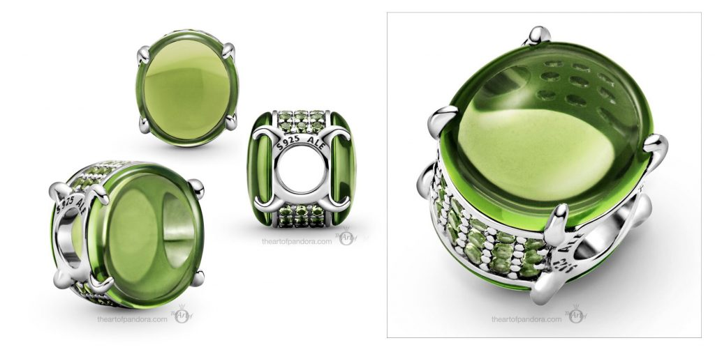 Pandora Green Oval Cabochon Charm (799309C02)  valentines day 2021 Chinese new year cny