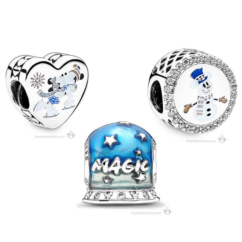 Pandora Disney Parks Disney Magic Snow Globe Gift Set (799196C01