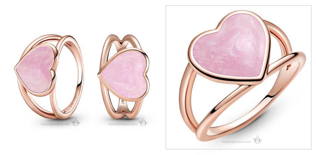 189263C01 Pandora Rose Pink Swirl Heart Statement Ring valentines day 2021 Chinese new year cny