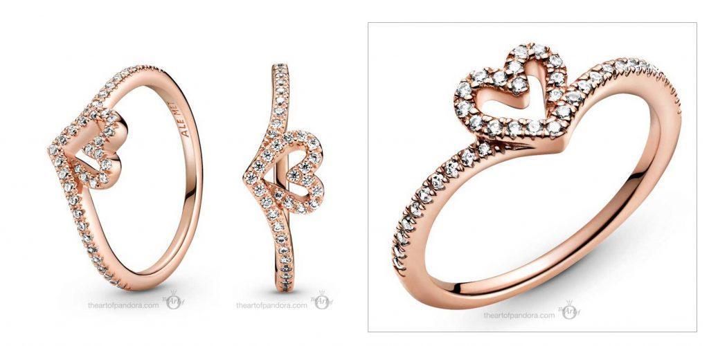 Pandora Wish Sparkling Wishbone Heart Ring (189302C01) valentines day 2021 Chinese new year cny