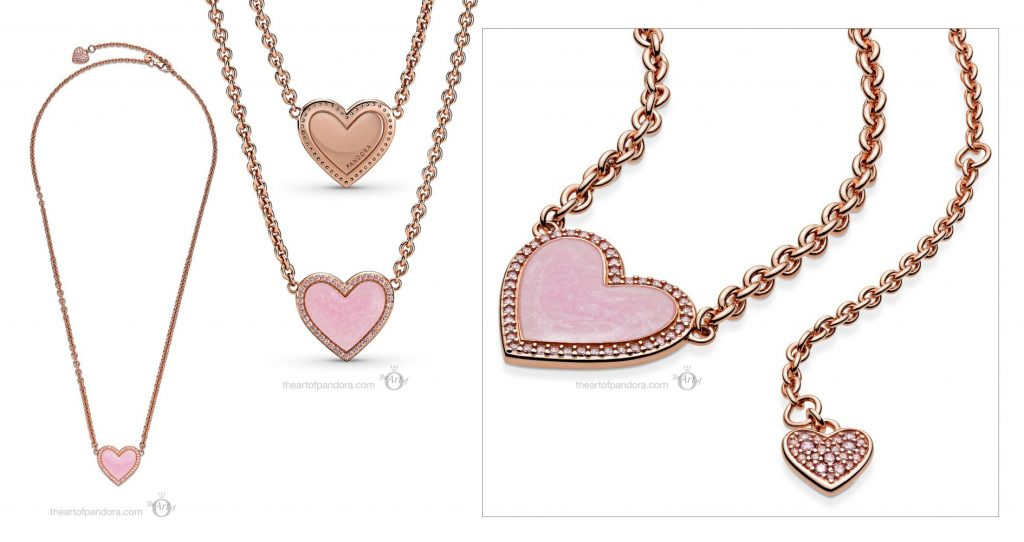 valentines day 2021 Chinese new year cny 389279C01 Pandora Rose Pink Swirl Heart Necklace