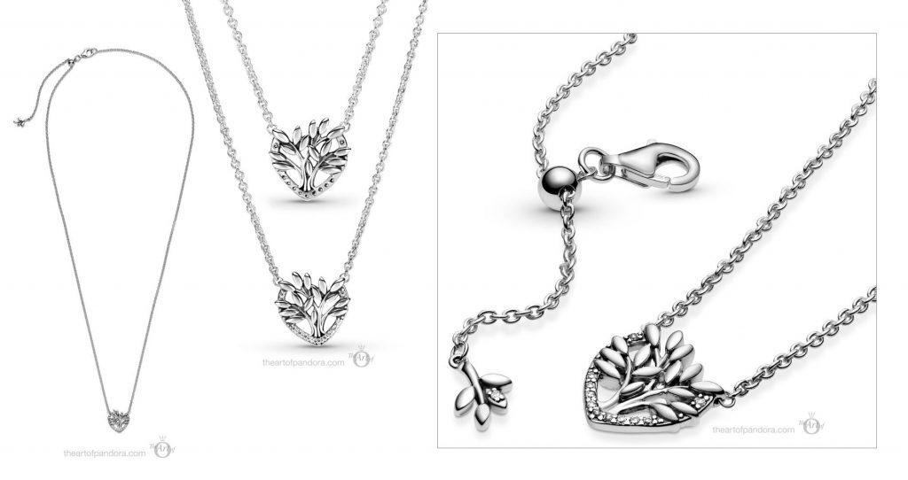valentines day 2021 Chinese new year cny 399261C01 Pandora Heart Family Tree Necklace