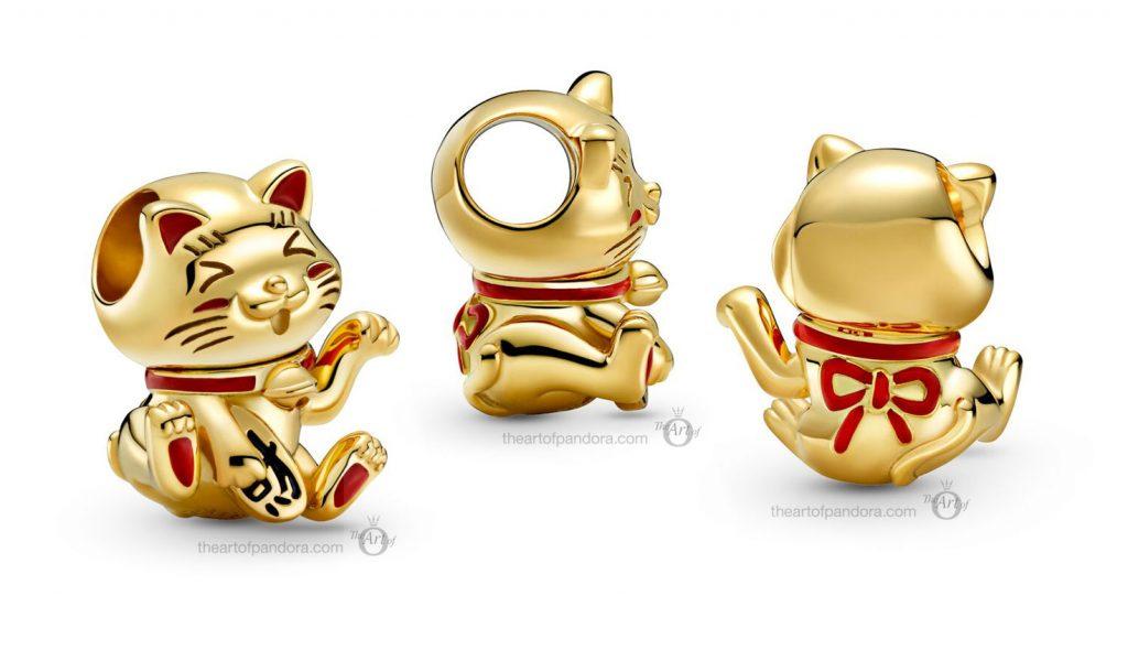 valentines day 2021 Chinese new year cny Pandora Shine  Lucky Cat Charm (769271C01)