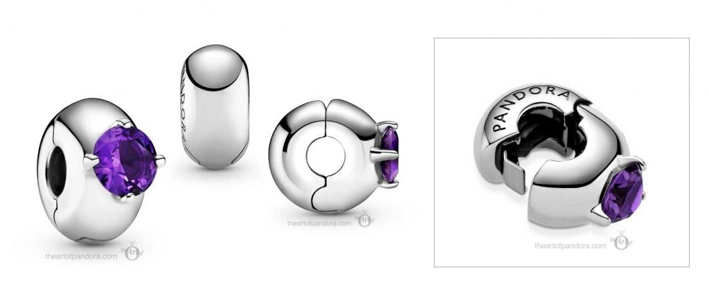 Pandora Colours Purple Round Solitaire Clip (799204C02)