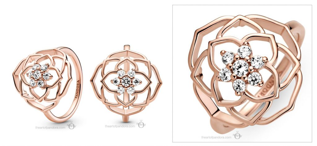 Pandora Rose Rose Petals Statement Ring (189412C01)  Mother's Day spring occasions 2021