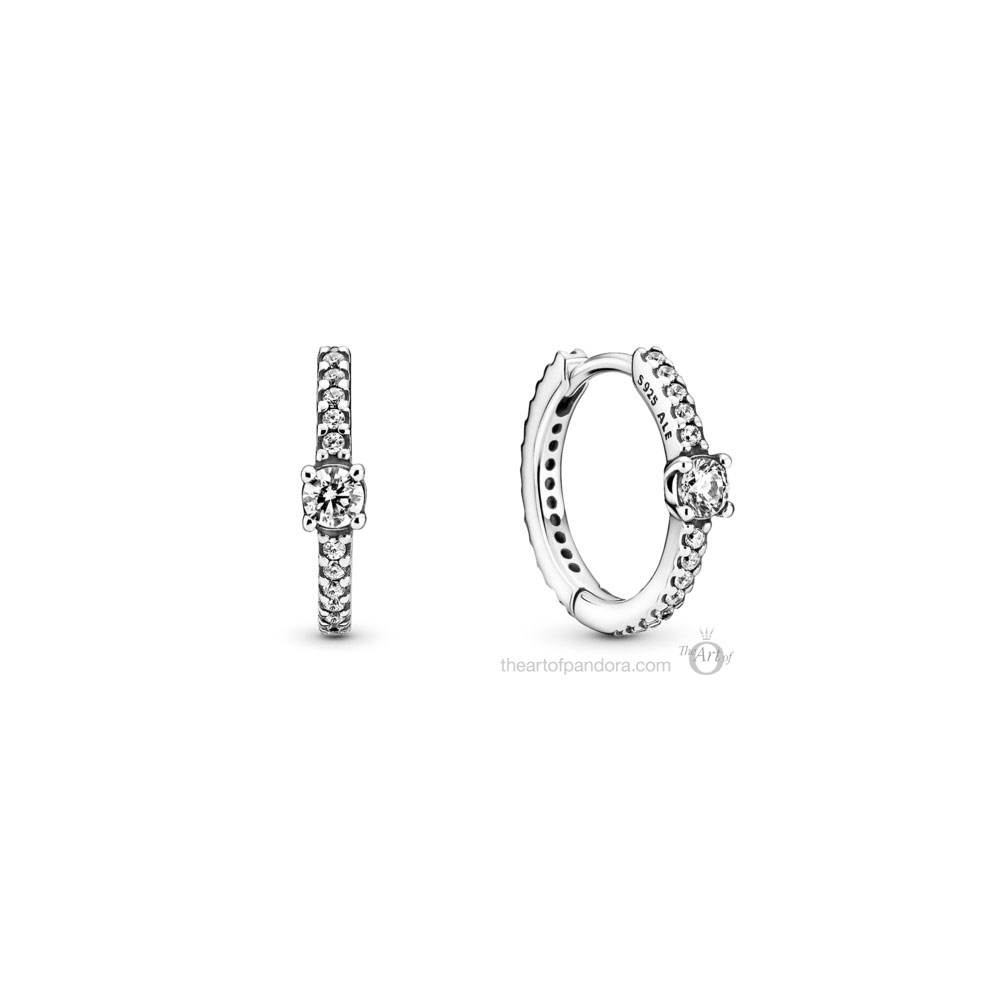 Pandora Sparkling Hoop Earrings (299406C01) Mother's Day spring occasions 2021