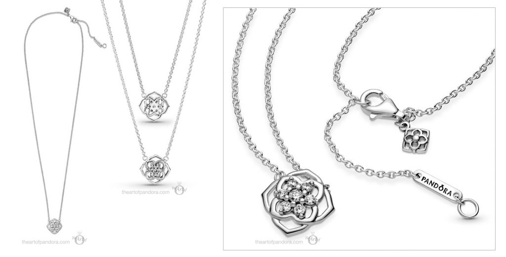 Pandora Timeless Rose Petals Collier Necklace (399370C01) Mother's Day spring occasions 2021