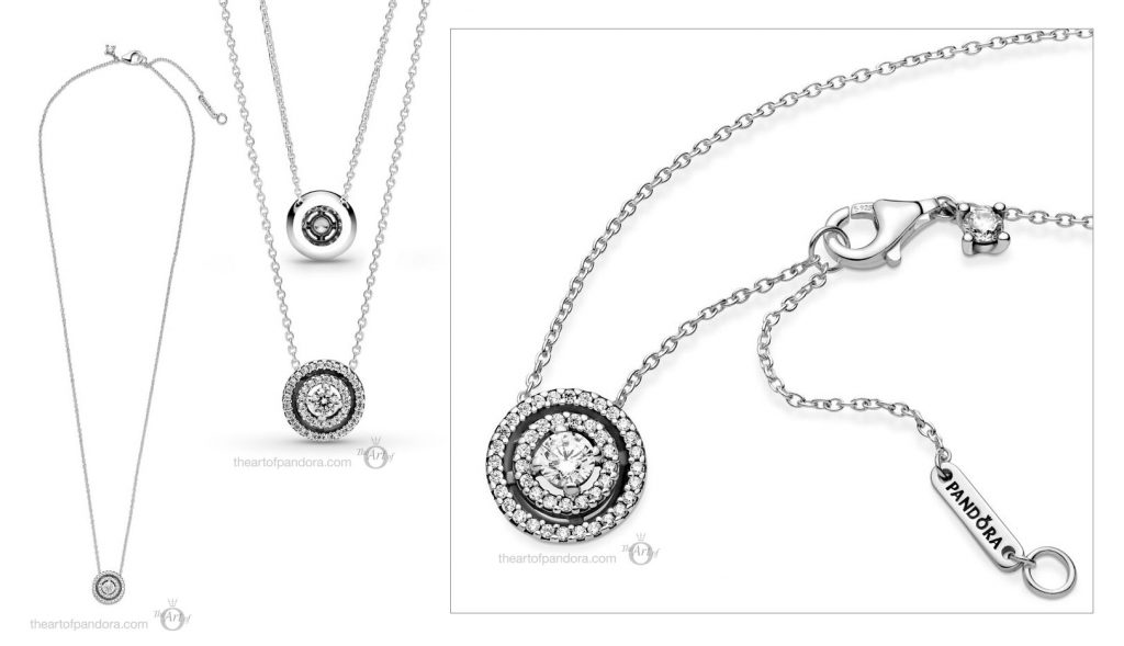 Pandora Sparkling Halo Necklace (399414C01) Mother's Day spring occasions 2021