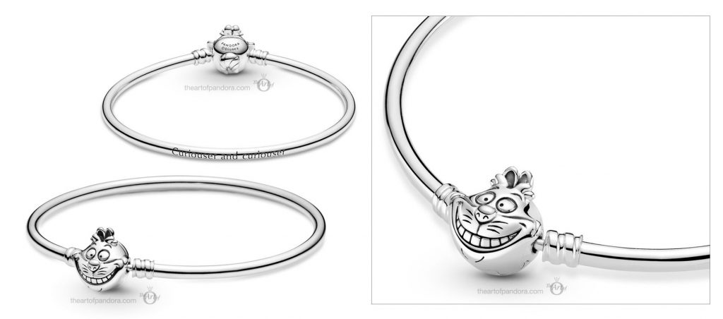 Disney x Pandora Alice in Wonderland Cheshire Cat Clasp Moments Bangle (599343C00) Mother's Day spring occasions 2021
