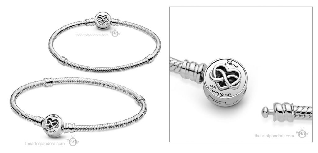 Pandora Moments Heart Infinity Clasp Snake Chain Bracelet (599365C00) Mother's Day spring occasions 2021