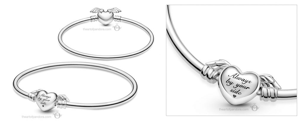 Pandora Moments Pandora Moments Winged Heart Bangle (599379C00) Mother's Day spring occasions 2021