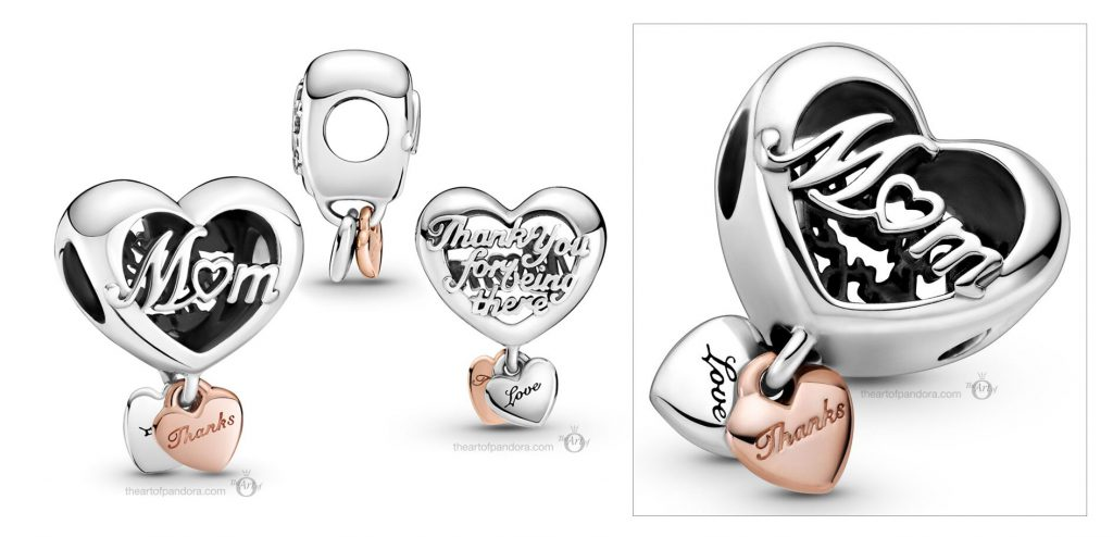 Pandora Heart Charm (789372C00) Mother's Day spring occasions 2021