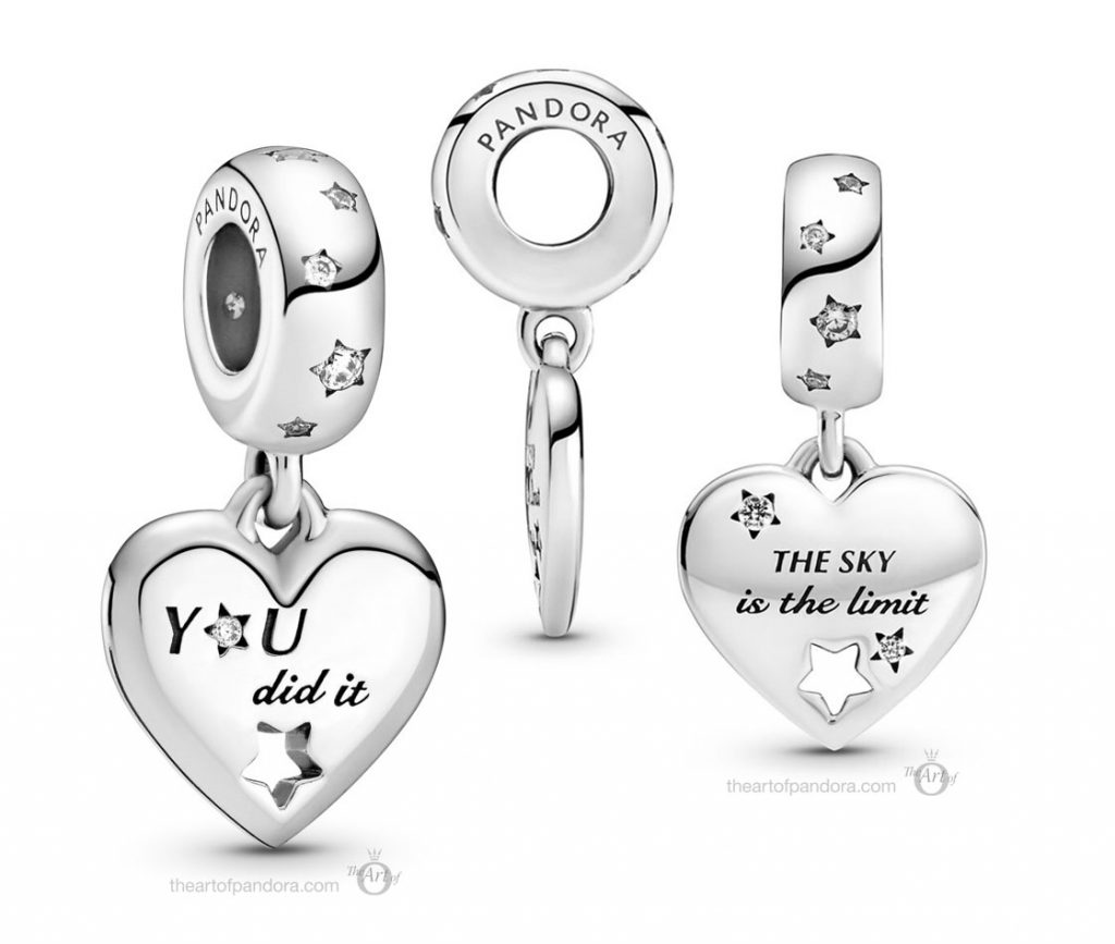 Pandora Congratulations Heart Stars Dangle Charm (799323C01)  Mother's Day spring occasions 2021