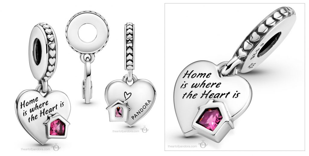 Pandora Love My Home Heart Dangle Charm  (799324C01) Mother's Day spring occasions 2021