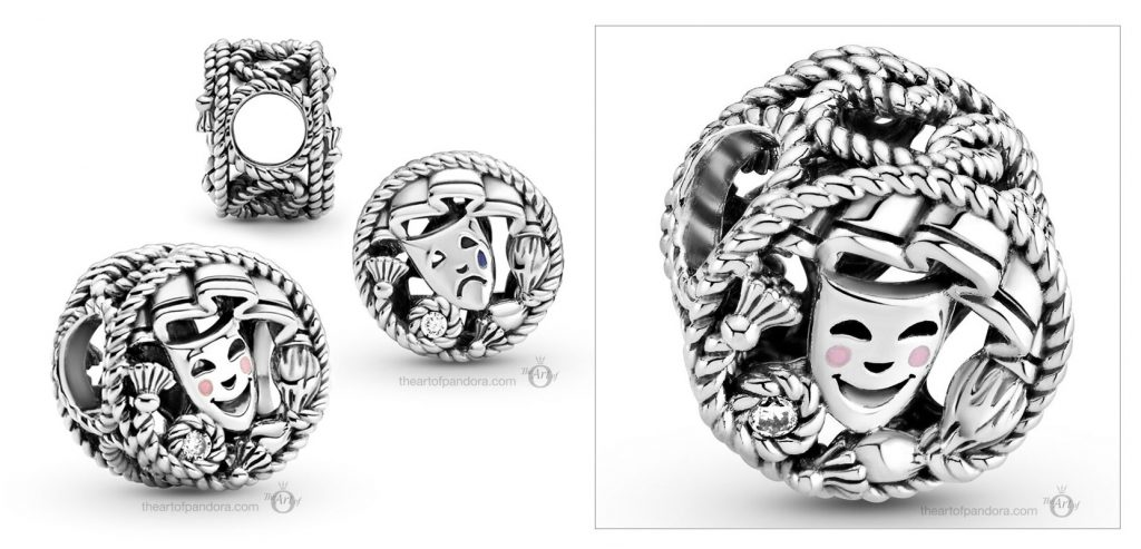 Pandora Comedy Tragedy Drama Masks Charm (799331C01)  Mother's Day spring occasions 2021
