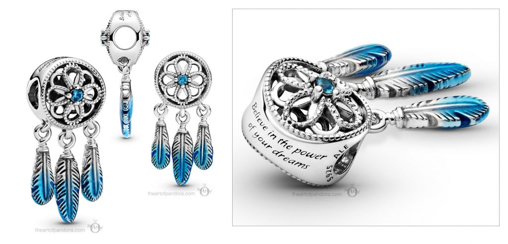 Pandora Blue Dreamcatcher Charm (799341C01)  Mother's Day spring occasions 2021