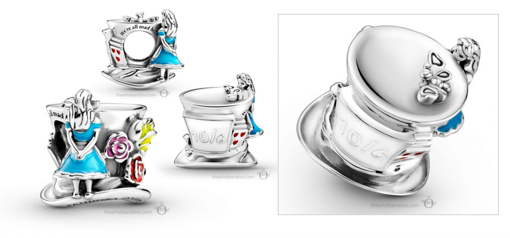 Disney x Pandora Alice in Wonderland The Mad Hatters Tea Party Charm (799348C01) Mother's Day spring occasions 2021
