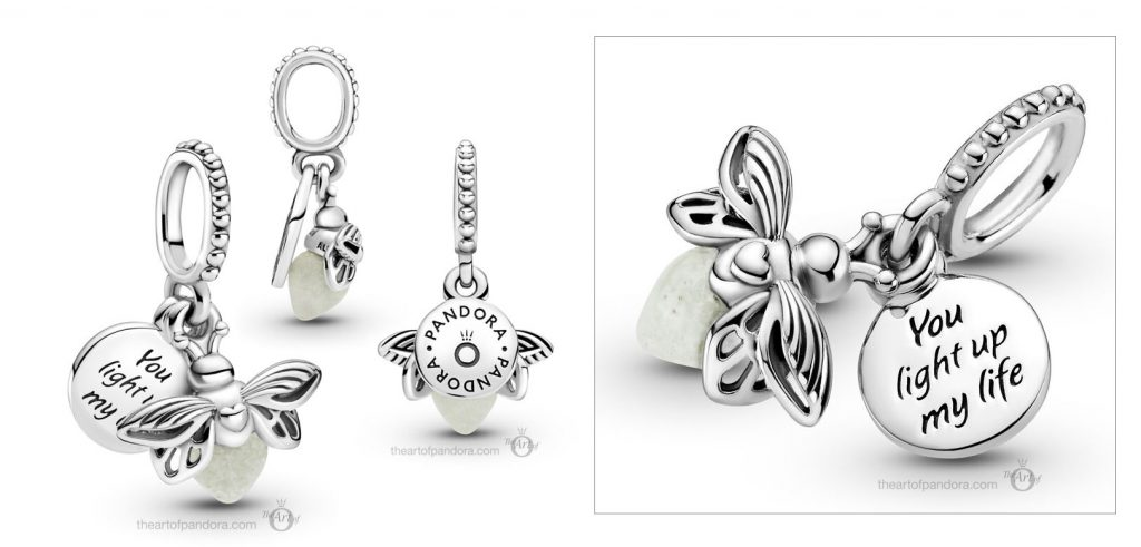 Pandora Glow in the Dark Firefly Dangle Charm  (799352C01)  Mother's Day spring occasions 2021