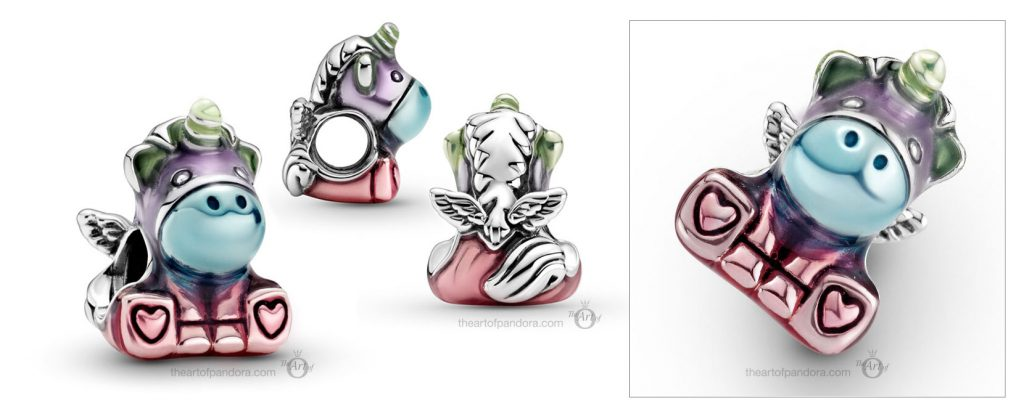 Pandora Colourful Rainbow Bruno The Unicorn Charm (799353C01)  Mother's Day spring occasions 2021