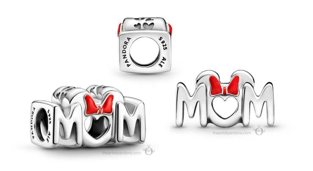Disney x Pandora Minnie Mouse Bow Mum Charm  (799363C01) Mother's Day spring occasions 2021
