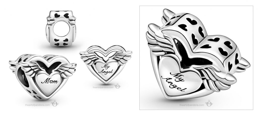 Pandora Angel Wings Mum Charm (799367C00)  Mother's Day spring occasions 2021