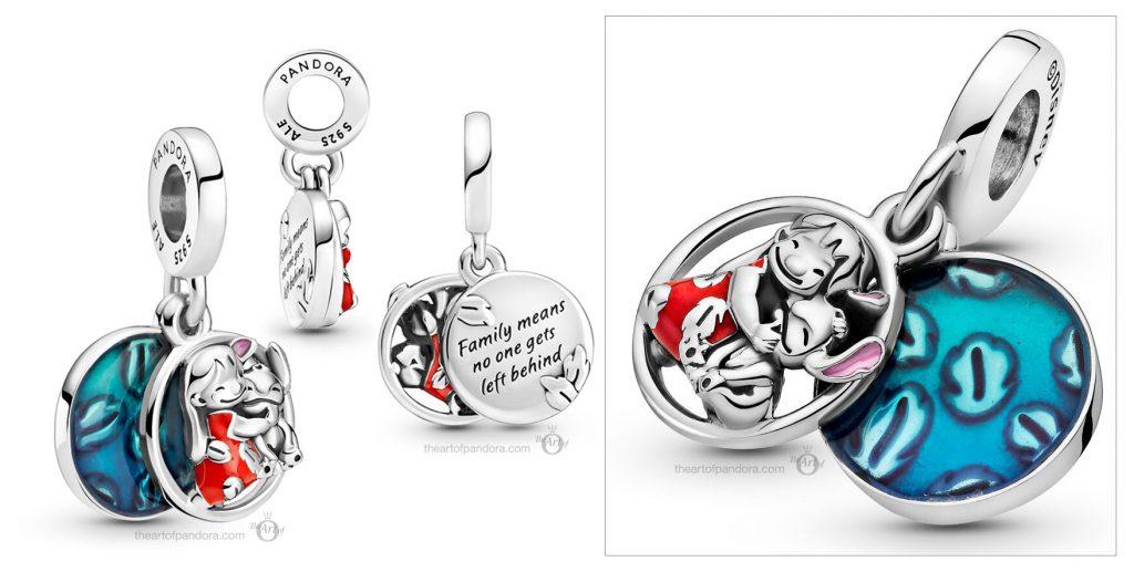 Disney x Pandora Lilo & Stitch Family Dangle Charm (799383C01) Mother's Day spring occasions 2021